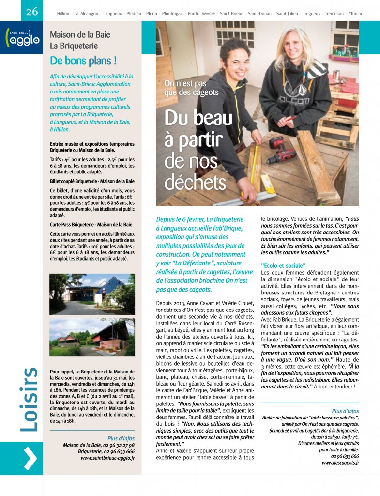magasine agglo article