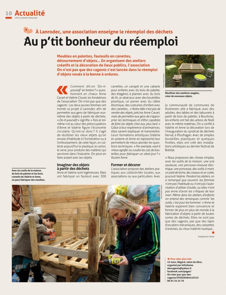 cotes armor mag français